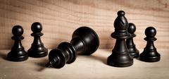 defeat at chess - stock photo