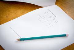 Math test Stock Photos