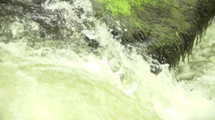 Waterfall on a river in slow motion (200fps) Stock Footage
