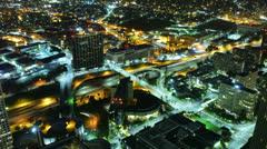 Night Kaupunkikuva Timelapse 181 Los Angeles Freeway Traffic 4K Arkistovideo
