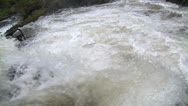 Stock Video Footage of Salmon Jumps up waterfall - slow motion