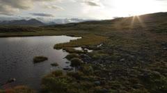 Beautiful Cinematic Landscape - Sunset Jib Lower Stock Footage