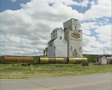 Grain silo,  Fort qu'appelle Saskatchewan Canada Stock Footage