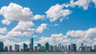 Stock Video Footage of Miami skyline time lapse pan