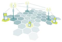 Connecting mobile phones / telecomm Stock Illustration