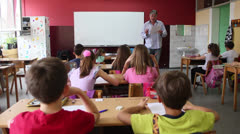 Classroom Wide - stock footage