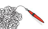 Stock Illustration of doodling pen drawing