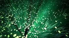 Optical fibres. Networking communication internet technology telecommunication Stock Footage