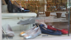 Shoes store in Italy Stock Footage