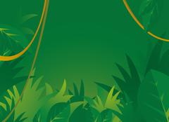 Jungle background with copyspace Stock Illustration