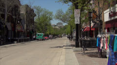 State Street 500 Block -Madison, WI - stock footage