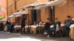 Outdoor restaurant Stock Footage
