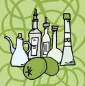 Olive and derivatives Stock Illustration