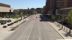 University Avenue East - Madison, WI Stock Footage