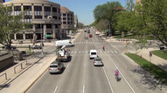 University Avenue West-Bound - Madison WI - stock footage