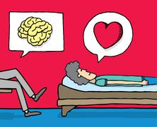 Psychology in action Stock Illustration