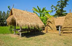 thai summerhouse - stock photo
