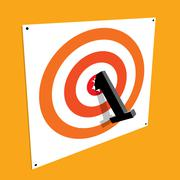 number one bullseye on a target / first place - stock illustration