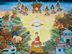 Stock Photo of mural buddhist art