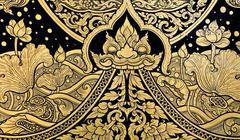 Thai style painting art Stock Photos