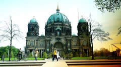 Berlin Cathedral (German: Berliner Dom) Stock Footage