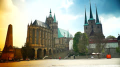 The Catholic Erfurt Cathedral Stock Footage