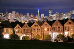 San francisco alamo square Stock Photos