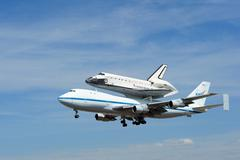 space shuttle landing - stock photo