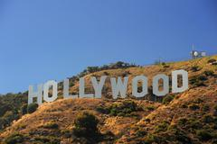 hollywood on hill - stock photo
