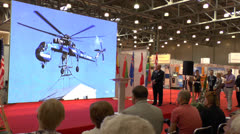 International exhibition  Helicopter Industry Stock Footage