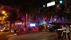 Stock Video Footage of Ocean Drive Club