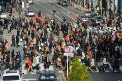 Shibuya Crossing Tokio Japani Kuvituskuvat