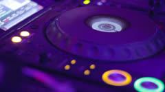 Blinking DJ CD turntable Stock Footage