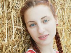 A redhead girl. - stock photo