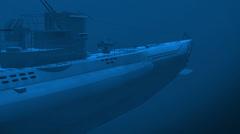Submarine underwater Stock Footage