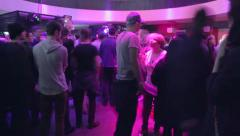 Night club timelapse people get together to dance Stock Footage