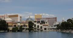 Ultra HD 4K Aerial View, Las Vegas Strip, Boulevard, Caesars Palace Casino Hotel Stock Footage