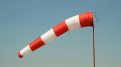 Airport Windsock Stock Footage
