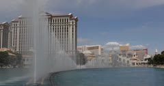 UHD Ultra HD 4K Bellagio Hotel Casino Las Vegas Strip Show Musical Fountains Stock Footage