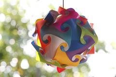 lamp art on design. - stock photo