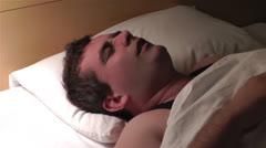 Men Sleeping Having Nightmare 5 - stock footage