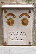 doorbell face - stock photo