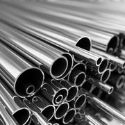 Metal pipes  stack. Stock Illustration