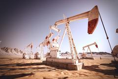 Oil Pump Jack. - stock illustration
