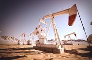 Stock Illustration of Oil Pump Jack.
