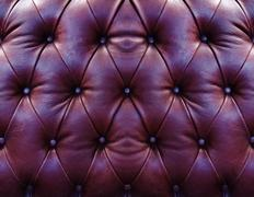 Dark red upholstery leather Stock Photos
