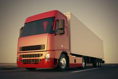 Truck on the road. - stock illustration