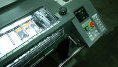 Offset printing process Stock Footage