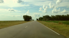 Driving a Car on a Country Road -POV Stock Footage