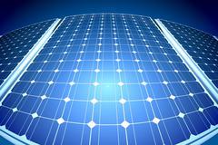 Sunny aurinkopaneelien aurinkovoimalan Piirros